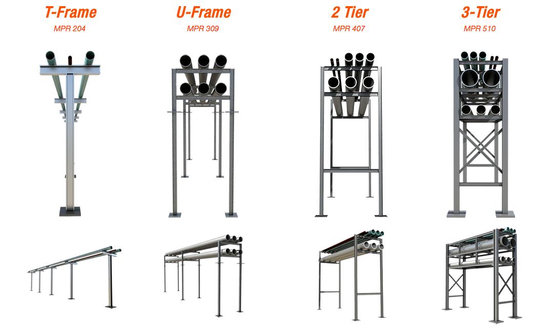 Pre engineered Pipe Racks Options