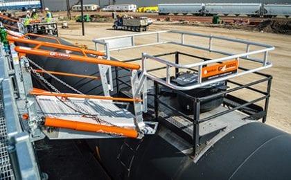 Railcar access ramp gangway loading ramps