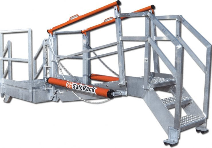 Self Leveling Stairs : Sas self leveling gangway height variation cages saferack