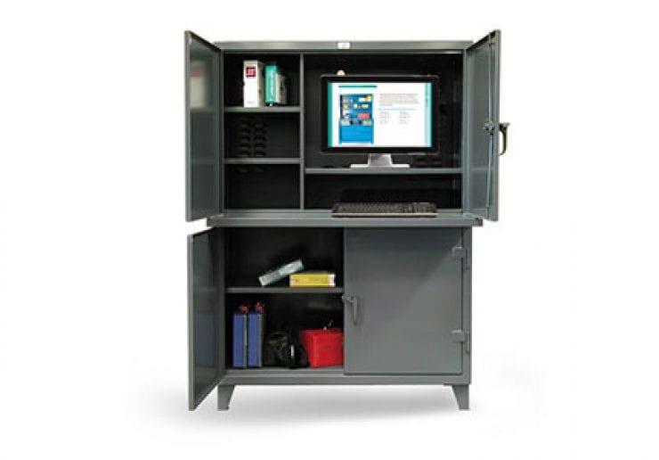 2 compartment computer workstation