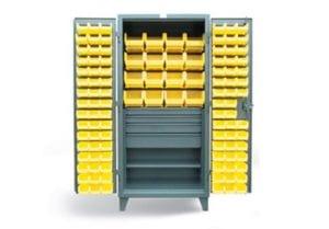 4 drawer bin cabinet