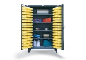 4 shelf bin storage cabinet