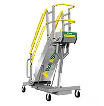 g series mobile self leveling stair work platforms