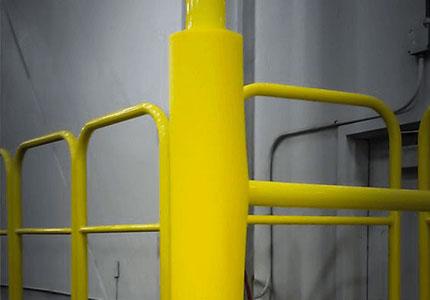 padded safety rail bumper