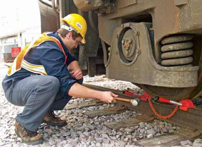 Railcar Chocks Whack Em