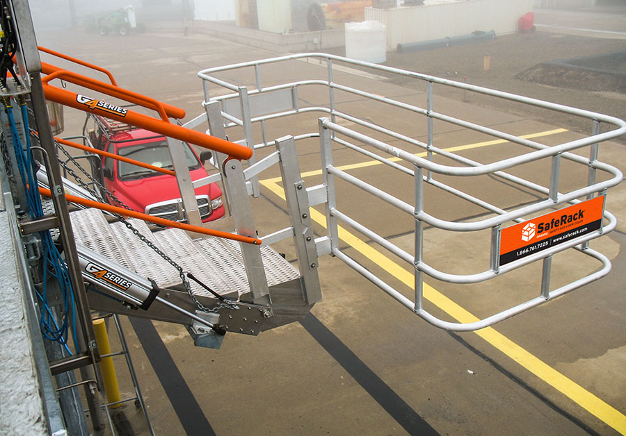 saferack trucking extra wide sas gangway with hydraulic lift