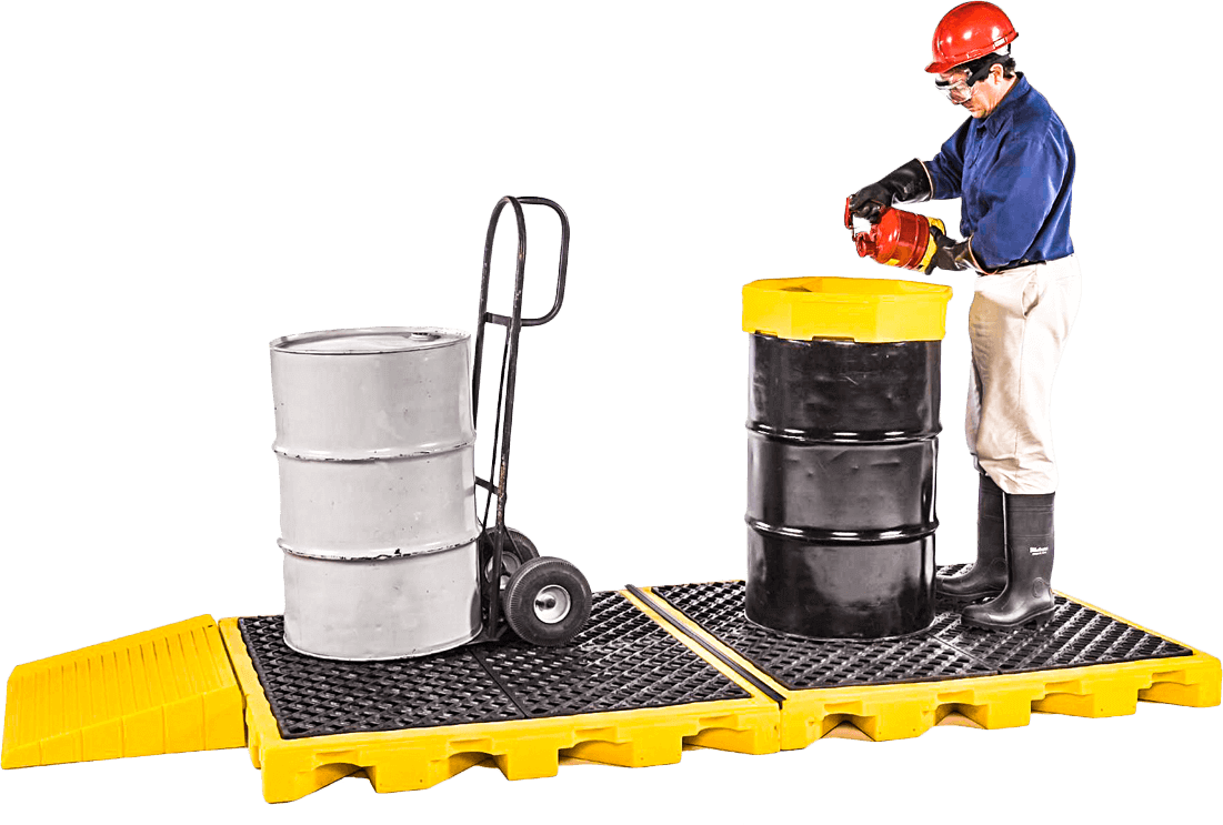 spill containment spill decks drip prevention pallets