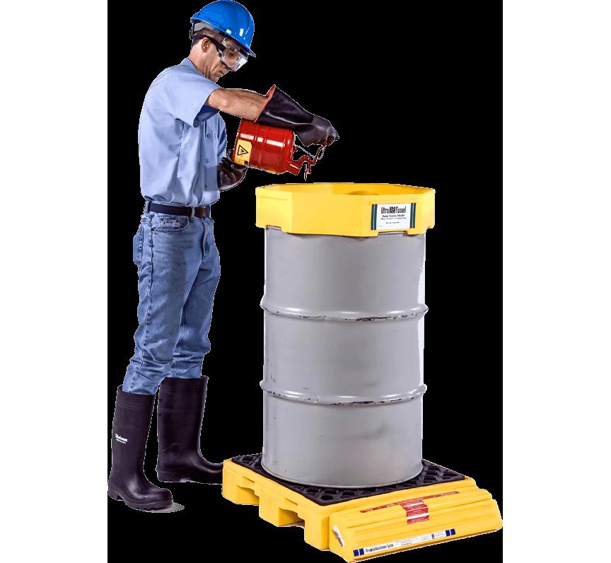 spill containment spill decks drum top drip prevention safety pallet
