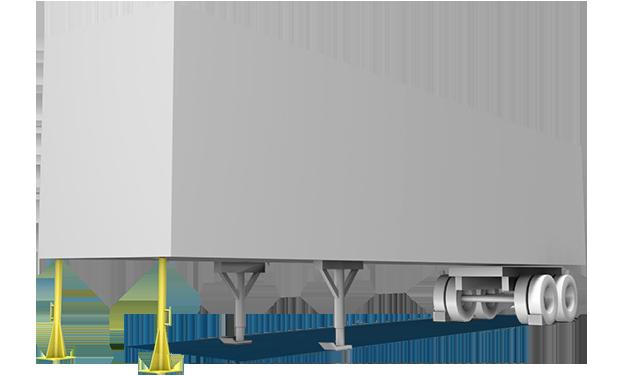 Truck jack stand illustration