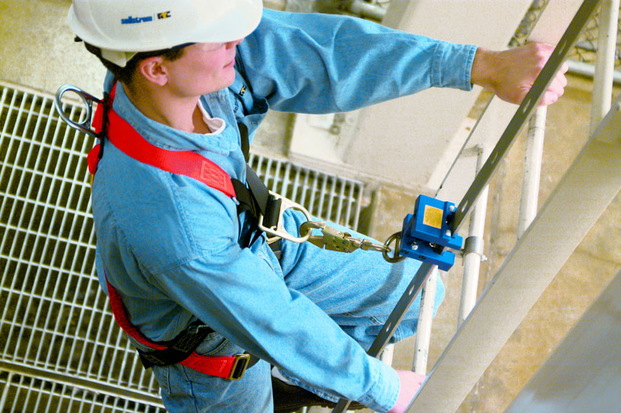 Fixed Ladder Fall Arrest System