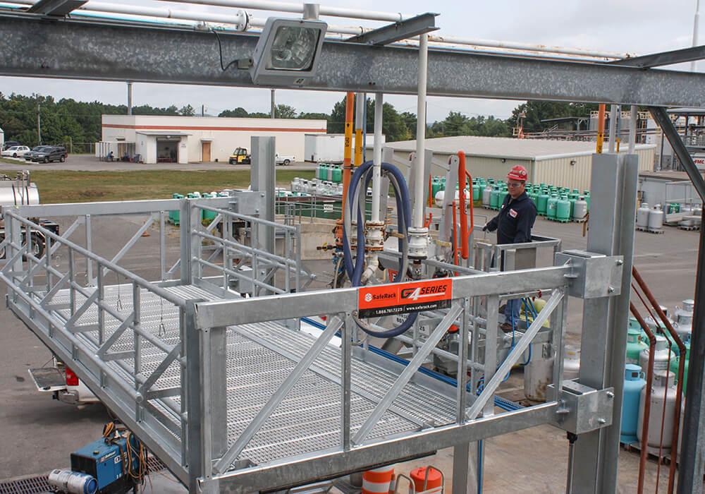 elevated platform system truck