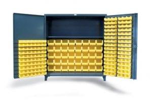 king size bin and shelf storage cabinet