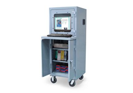 Mobile Computer Cabinet w/ Welded Shelf