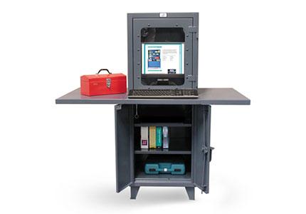 Multi-Data Entry Computer Cabinet