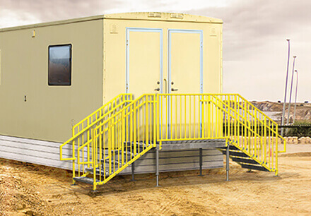 Portable Stairs for Construction Trailers