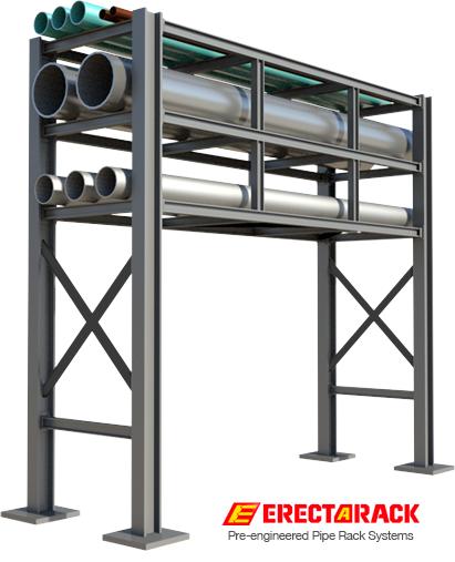 pre engineered industrial pipe rack