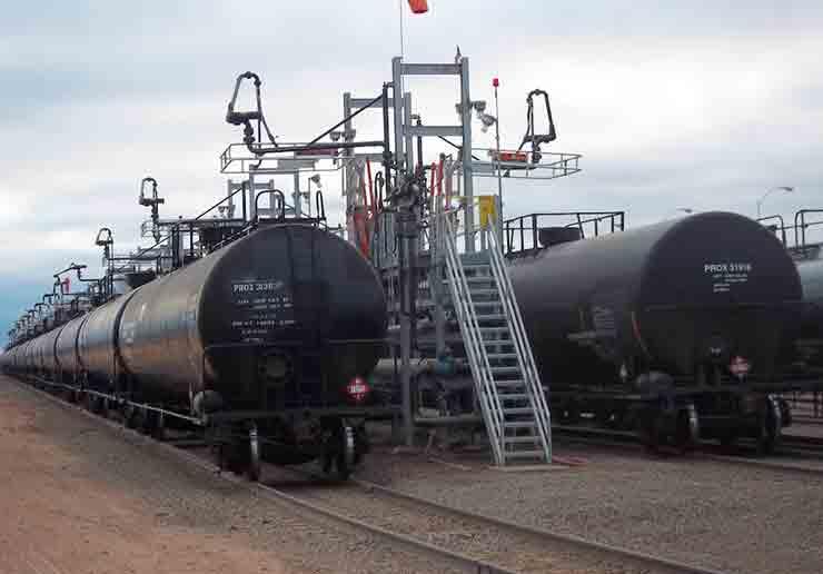 Railcar Loading Platform Loading Arm