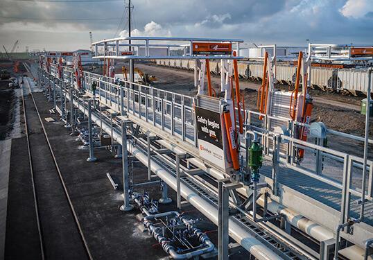 railcar loading platforms installation