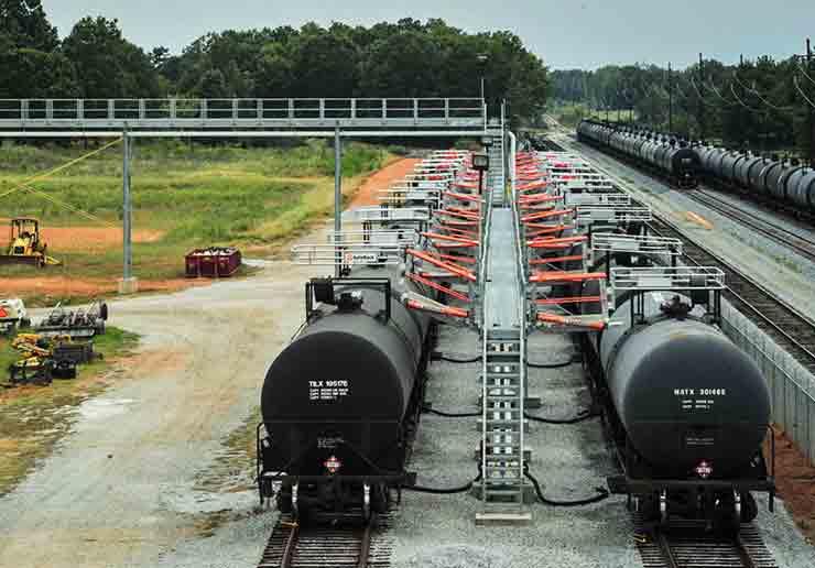Railcar Loading Rack Engineered