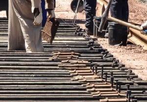 railroad track demolition and construction