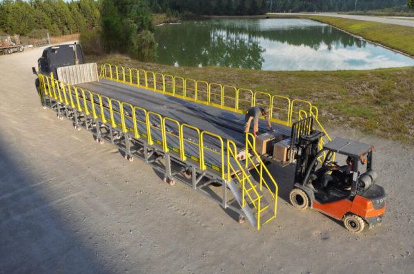 rolling platform for flatbed trucks