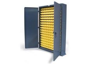 slim line metal bin storage