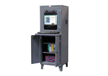 Top View Computer Cabinet w/ Welded Shelf