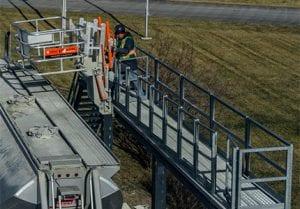track mounted gangway grid