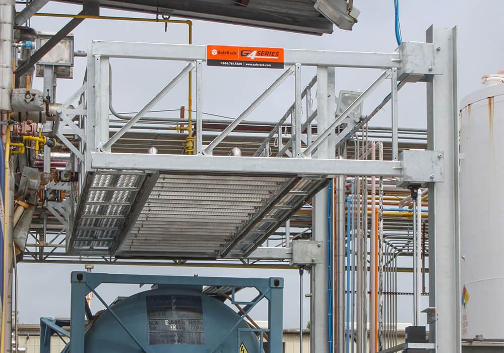 Truck Elevating Handrail Platform System