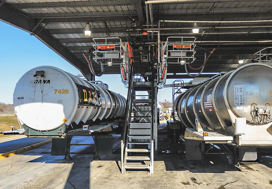 truck canopy distribution terminal sfr flat ramp gangway platform 900x628