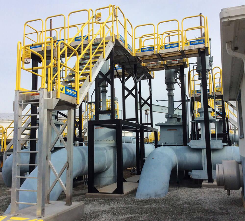 Work Platform Aluminum Stair Tower Support System
