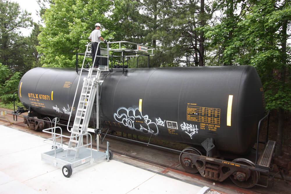 portable platform for railcars