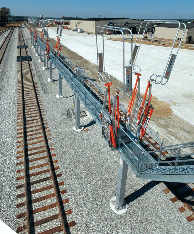 Railcar Platform with Railroad Clearance