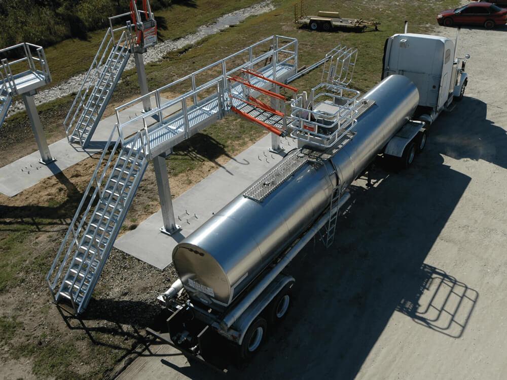 Tanker Truck Unloading Platform