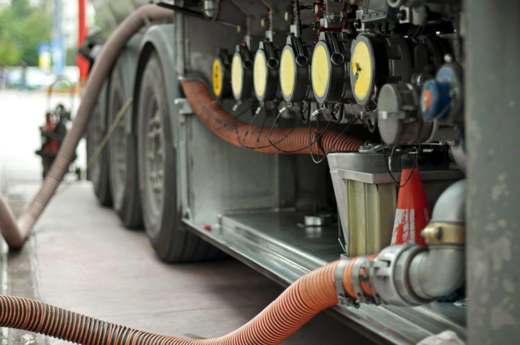 Bottom Loading Fuel Truck