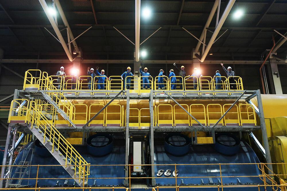 Custom Industrial Work Platform With Stairs