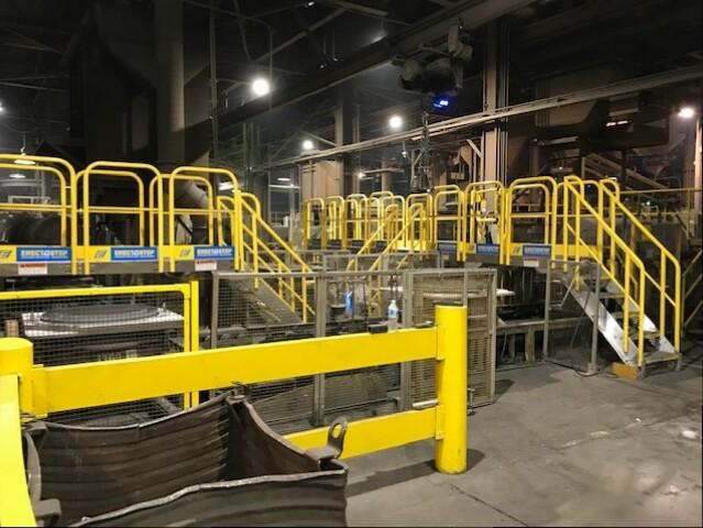 ErectaStep Conveyor Crossover for Amsted Rail Kansas City