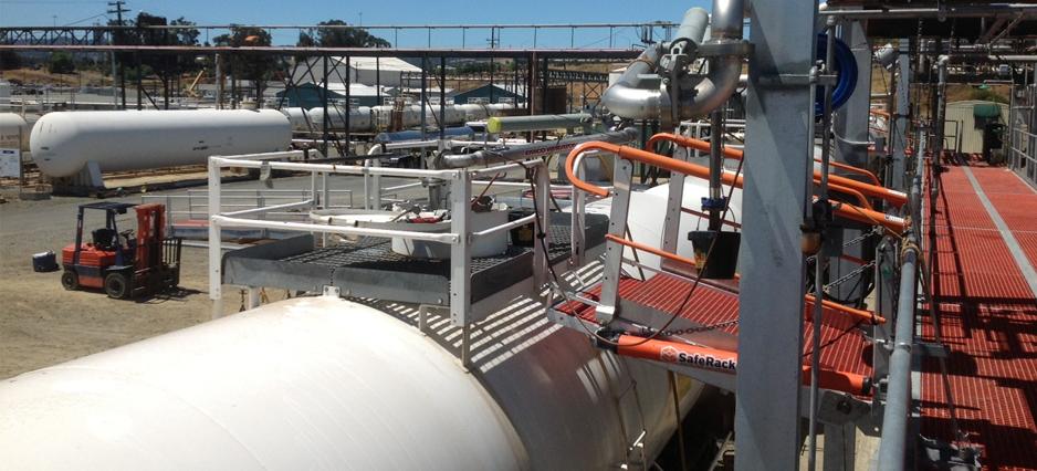 SafeRack and Eco-Services work together for updated acid loading platforms for Railcar loading
