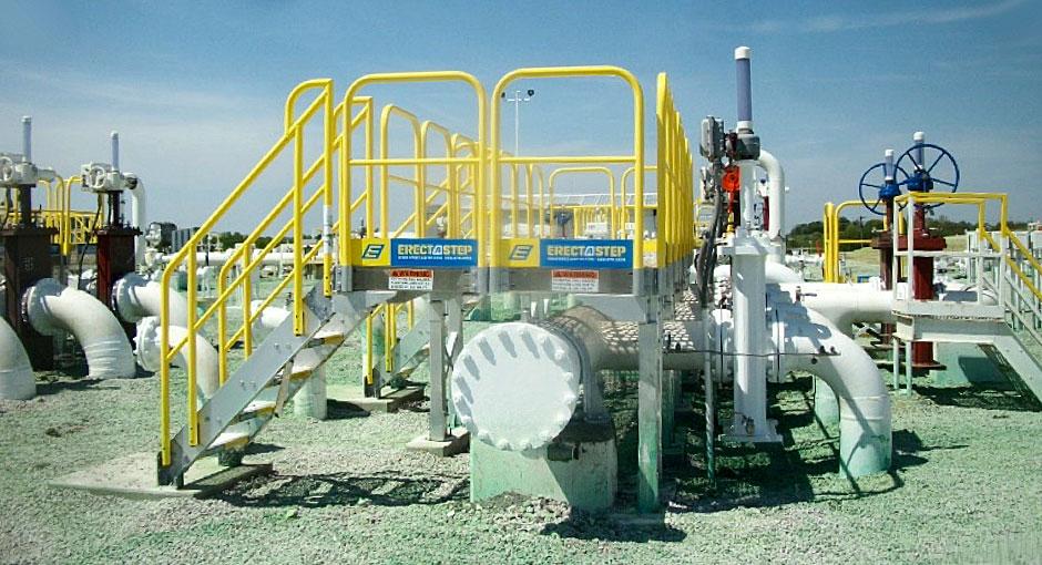 Automatic Fuel Nozzle on Loading Depot Platform