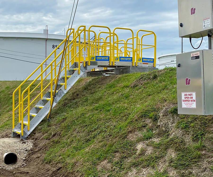 Custom metal stair system