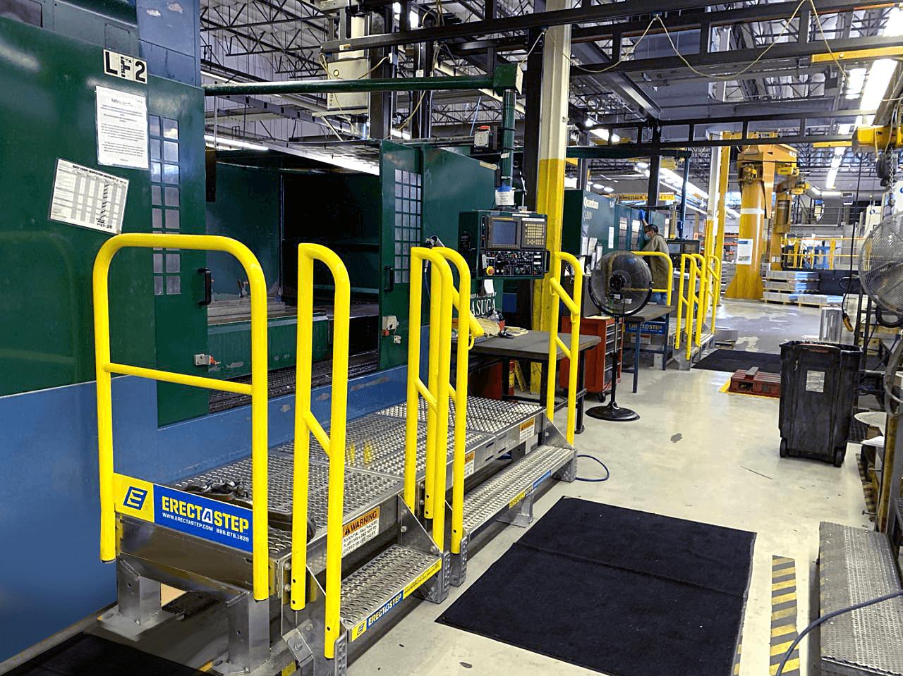ErectaStep platform stair for a CNC machine