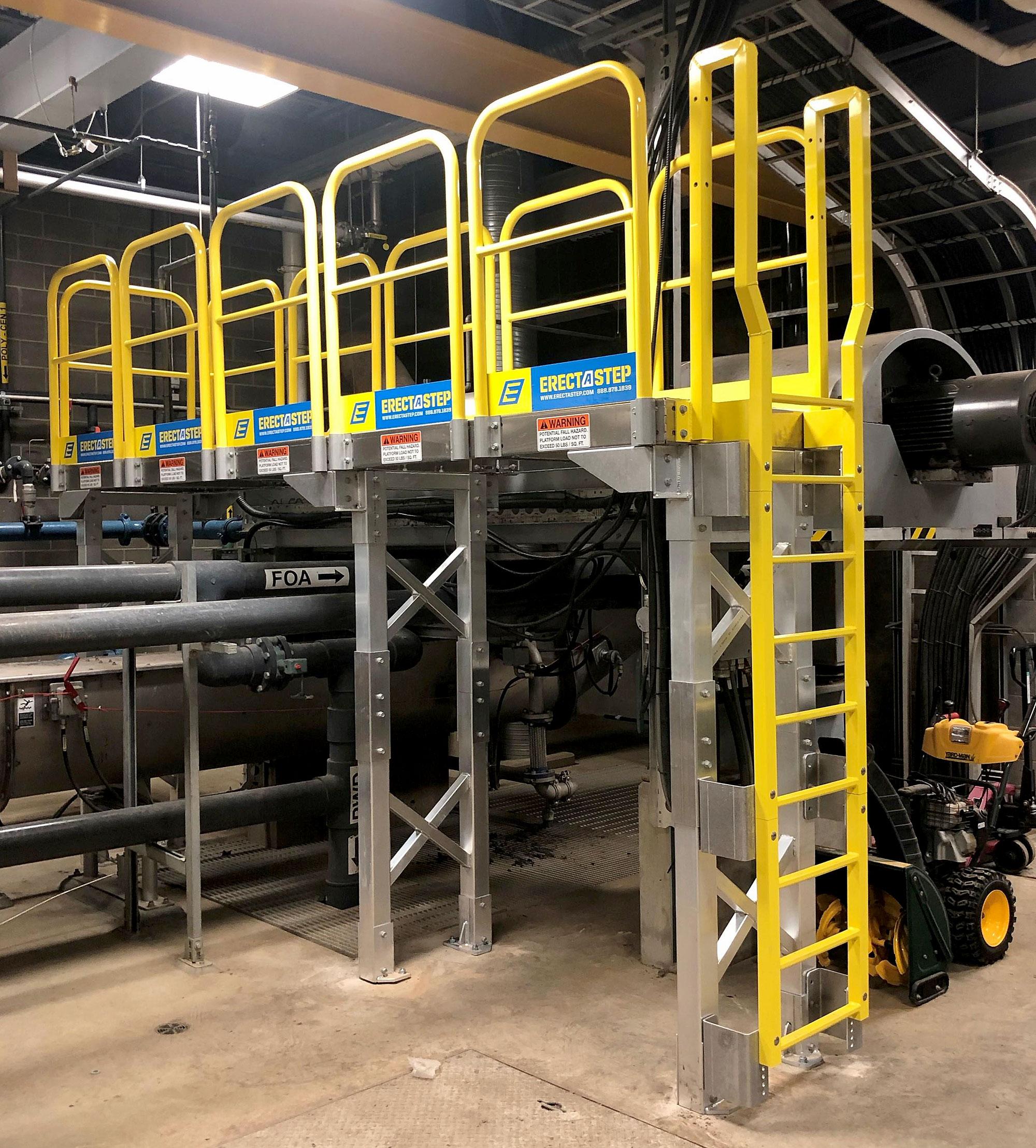 Work Platforms to Access Generators