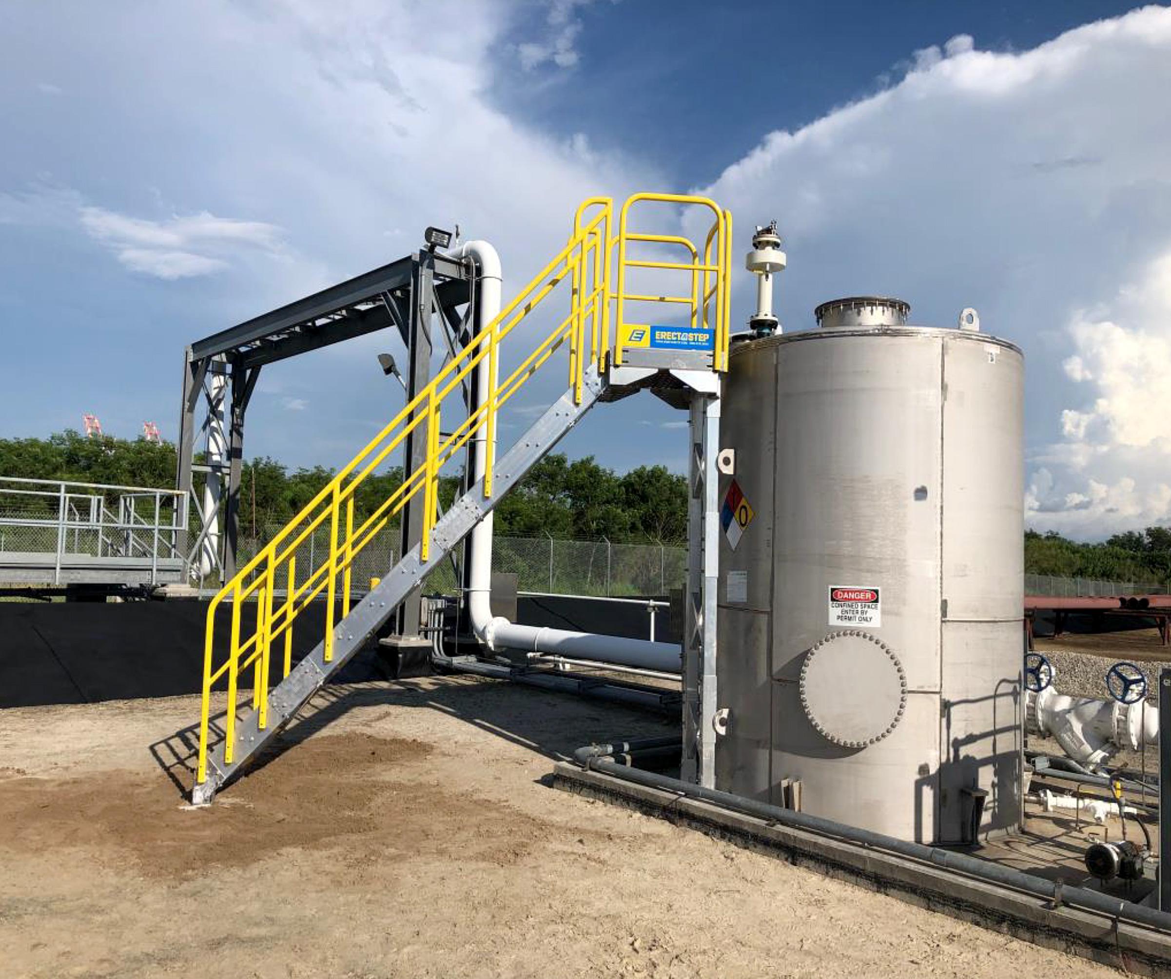 ErectaStep's 14-Stair Unit Access Storage Tank