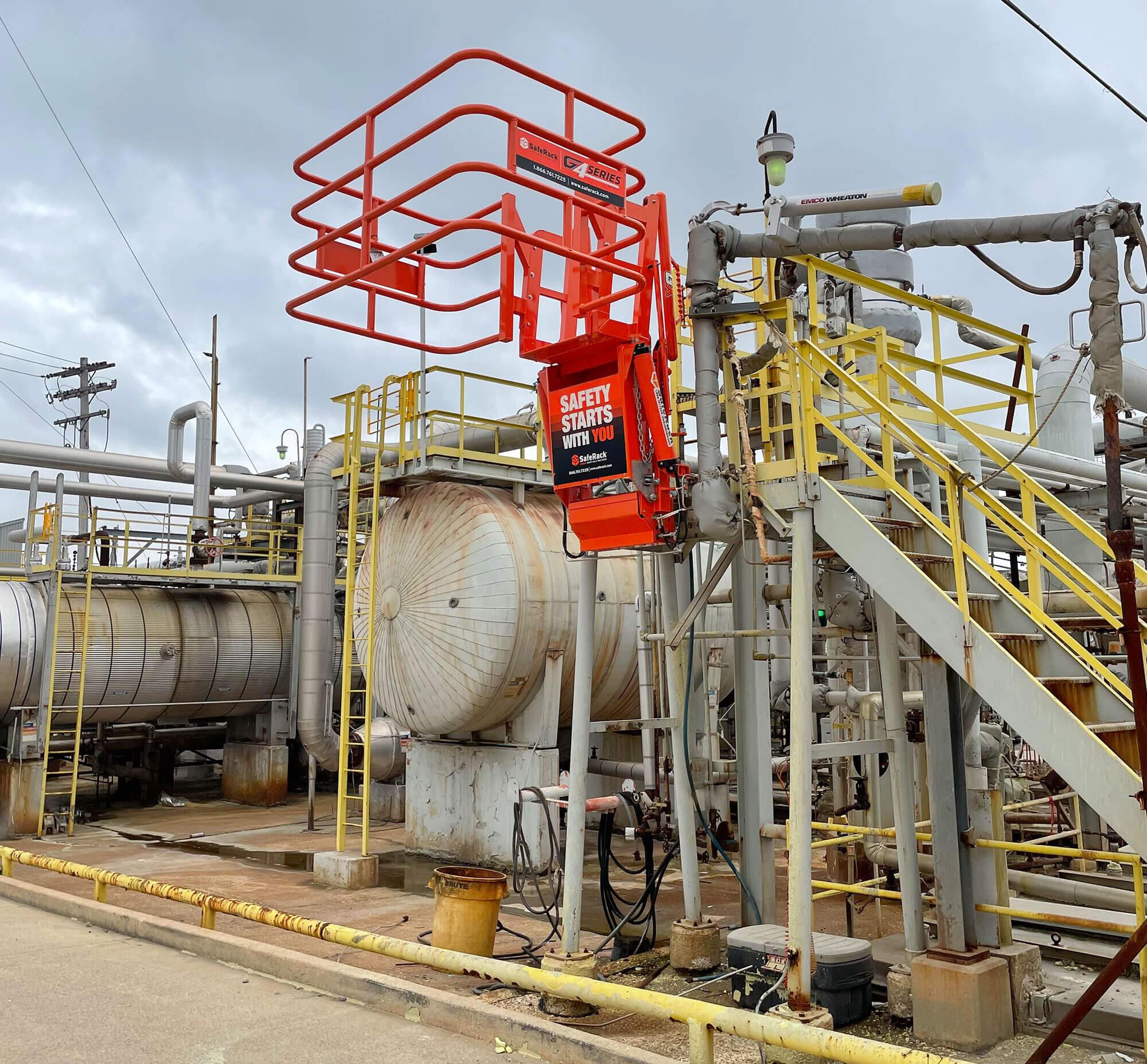 gangway for bulk loading sulfuric acid