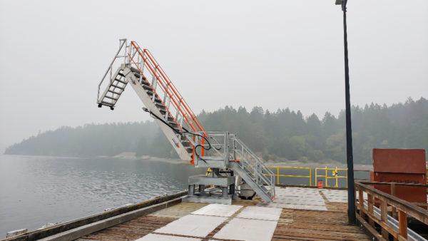 MarinaStep SAS Gangway Imperial Oil Barge Loading in Calgary, CA