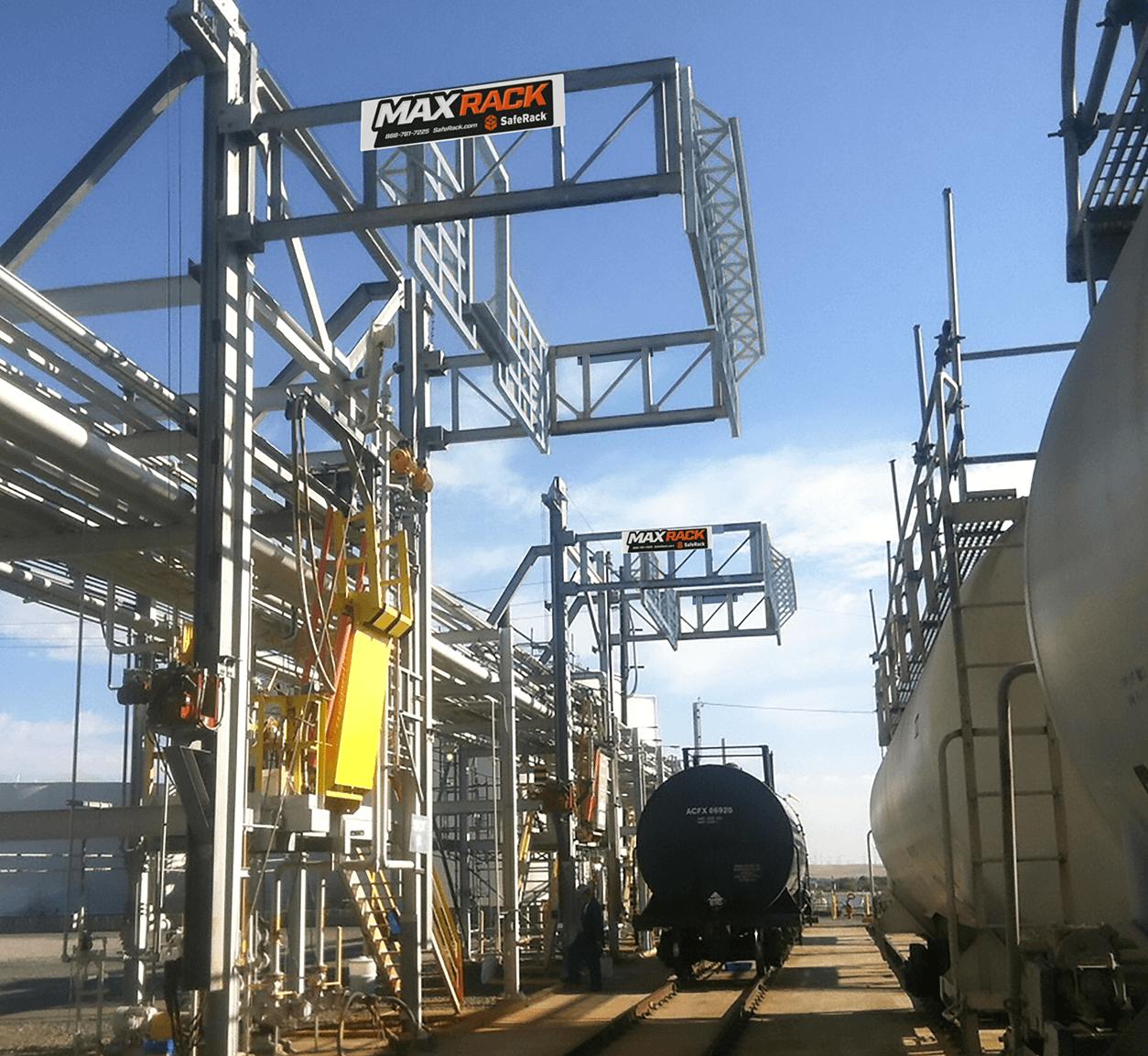 MaxRack Elevating Loading Safety Cage Platform