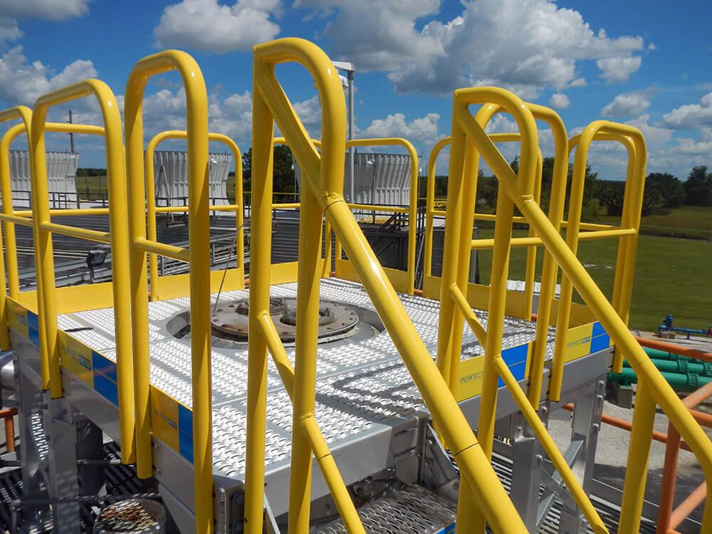Custom Work Platform With Stairs