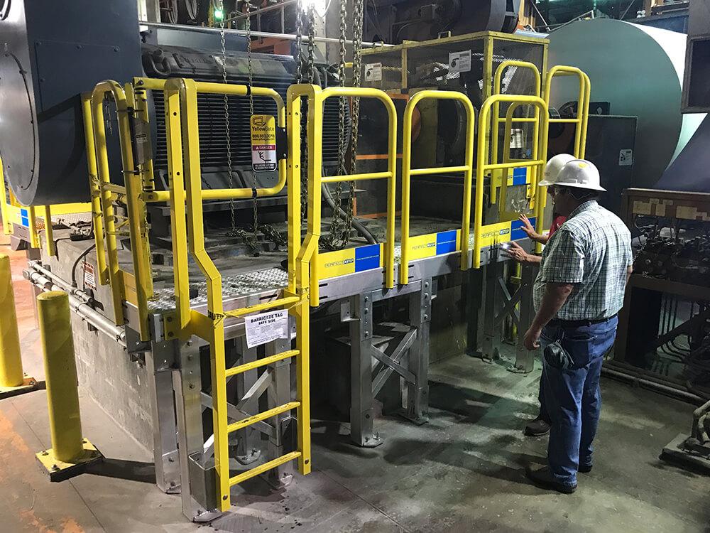 Industrial Ladder Work Platform