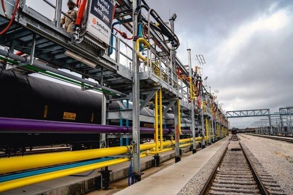 Railcar Loading and Unloading Platform
