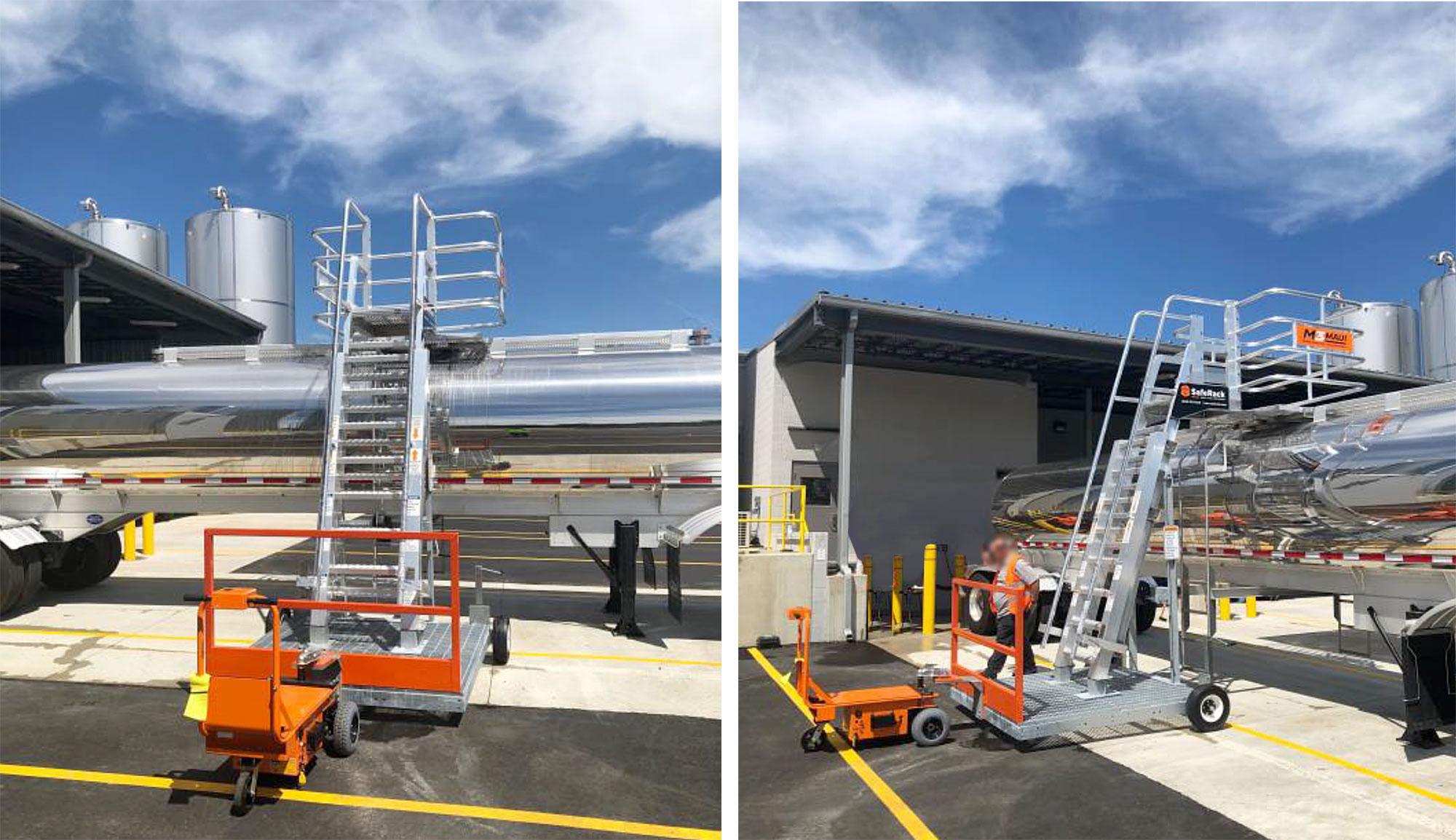 SafeRack's MAUI mobile truck loading platform